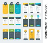 set of pricing table design... | Shutterstock .eps vector #446950954