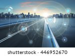 smart city and wireless... | Shutterstock . vector #446952670