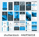 set of modern creative business ... | Shutterstock .eps vector #446956018