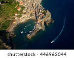 aerial view of village vernazza ... | Shutterstock . vector #446963044