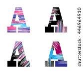 letter a set. vector graphic... | Shutterstock .eps vector #446964910