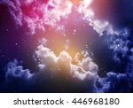 space of night sky with cloud... | Shutterstock . vector #446968180