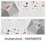 training climbing wall with... | Shutterstock .eps vector #446968453