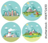 set of icons of nature for your ... | Shutterstock .eps vector #446972650