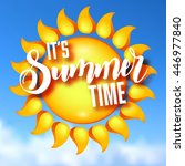 its summer time vector... | Shutterstock .eps vector #446977840