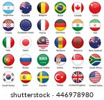 glossy button flags