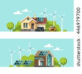green energy an eco friendly... | Shutterstock .eps vector #446979700