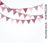 party background with flags... | Shutterstock .eps vector #446982208