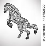 horse. hand drawn with ethnic... | Shutterstock .eps vector #446982520