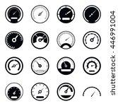 speedometer icons set in simple ... | Shutterstock .eps vector #446991004