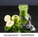 glass of fresh cold smoothie... | Shutterstock . vector #446998360
