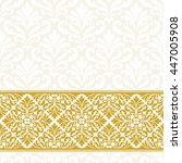 vintage greeting card with gold ...   Shutterstock .eps vector #447005908