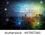 smart city and wireless... | Shutterstock . vector #447007360