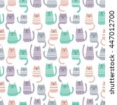 seamless vector pattern with... | Shutterstock .eps vector #447012700