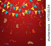 birthday background with... | Shutterstock .eps vector #447018154
