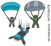 vector set of parachuter | Shutterstock .eps vector #447018478