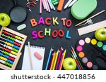 getting back to school  with... | Shutterstock . vector #447018856
