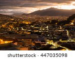 the city of quito in ecuador by ... | Shutterstock . vector #447035098