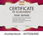 certificate of achievement.... | Shutterstock .eps vector #447036400