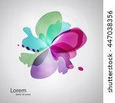 abstract spa health beauty logo ...   Shutterstock .eps vector #447038356