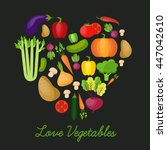 vegetable vector circle... | Shutterstock .eps vector #447042610