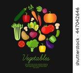 vegetable vector circle...   Shutterstock .eps vector #447042646