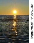 greece sunset from the beach. | Shutterstock . vector #447042880