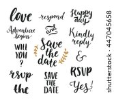 save the date collection with... | Shutterstock . vector #447045658