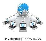 e mail 3d illustration | Shutterstock . vector #447046708