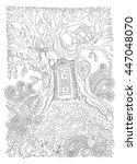 vector hand drawn fantasy old... | Shutterstock .eps vector #447048070