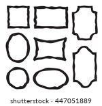 vector grunge frames. set of... | Shutterstock .eps vector #447051889