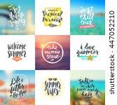 vector set of summer travel and ... | Shutterstock .eps vector #447052210