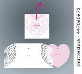 openwork  heart. laser cut... | Shutterstock .eps vector #447060673