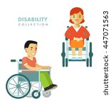 disability person concept.... | Shutterstock .eps vector #447071563