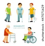 disability people set. young... | Shutterstock .eps vector #447071629