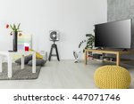 modern living room with simple... | Shutterstock . vector #447071746