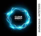 lightning vector round text... | Shutterstock .eps vector #447073300