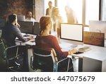 mockup copyspace computer... | Shutterstock . vector #447075679
