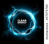 lightning vector round text... | Shutterstock .eps vector #447075700