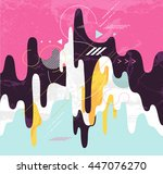 abstract dynamic geometric... | Shutterstock .eps vector #447076270