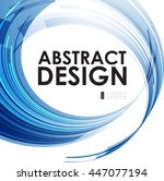 abstract technology circles... | Shutterstock .eps vector #447077194