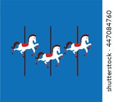 Carousel Horses Isolated Icon...