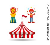 circus juggler isolated icon... | Shutterstock .eps vector #447086740