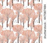 fall nature wildlife seamless... | Shutterstock .eps vector #447087484