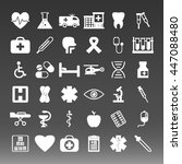 medical icons set vector... | Shutterstock .eps vector #447088480