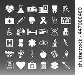 medical icons set vector... | Shutterstock .eps vector #447088480