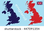 map of england | Shutterstock .eps vector #447091354