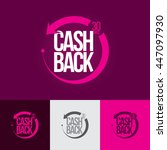 money cash back banner.... | Shutterstock .eps vector #447097930