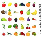 fruits set on white. fruits... | Shutterstock .eps vector #447098884