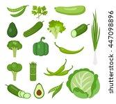 vegetables set on white. all... | Shutterstock .eps vector #447098896